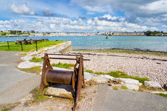 Plymouth from Cremyll Cornwall Stock Image