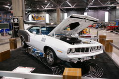 Plymouth Cuda. Picture of the 1971 Plymouth Cuda at the international show car association 2008. Isca show car 2008 at quebec, canada royalty free stock image