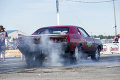 Plymouth-cuda Burnout Stockfotografie