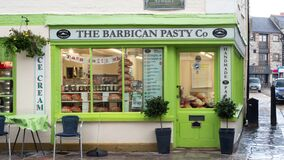 Free PLYMOUTH, DEVON, UK - March 06 2020: The Barbican Pasty Co Shop Front On The Barbican, Southside St Stock Photography - 179831412