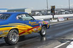 Plymouth duster on the track ready to start Stock Image