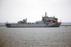 Plymouth för skepp för militärt sjukhus ljud Devon UK Royaltyfri Bild