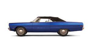 Plymouth Fury III 1969. ' 69 Plymouth Fury III Convertible isolated on white stock photography