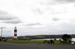 Plymouth fyr, Smeatons torn i den Plymouth hackan, England Arkivbild