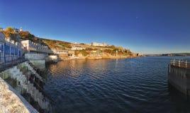 Plymouth-Hacke und Seeseite stockbild