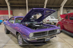 Plymouth Hemi Cuda kupé 1970 på skärm Royaltyfria Foton
