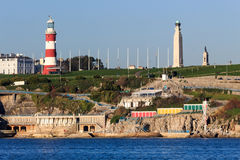 Plymouth Hoe from Mount Batten Royalty Free Stock Image