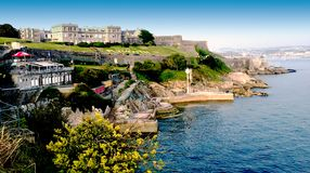 Plymouth Hoe - ocean view Royalty Free Stock Image
