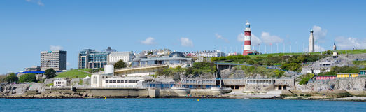 Plymouth Hoe From The Sea Royalty Free Stock Image
