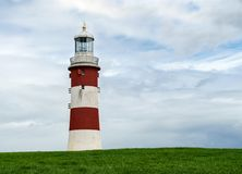 Plymouth Hoe, Smeaton`s Tower, Plymouth, Devon, United Kingdom, August 20, 2018. Plymouth Hoe, Smeaton`s Tower, Plymouth, Devon United Kingdom August 20 2018 stock photo