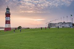Plymouth Hoe view Royalty Free Stock Photography