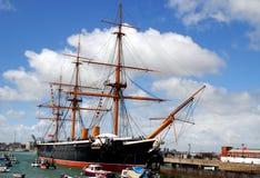 Plymouth, Inglaterra: Guerrero del HMS Imagen de archivo
