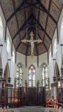 Plymouth katedry krzyża obwieszenie od sufitu Obrazy Stock