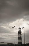 Plymouth-Leuchtturm Stockbild