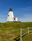 Plymouth Lighthouse in Massachusetts Royalty Free Stock Image