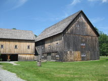 Plymouth Notch Historic District. The Wilder Horse Barn was built in 1875 and known as a bank barn built into a bank,It has hand hewn pegs and was once part of Royalty Free Stock Photography
