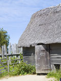 Plymouth Plantation. A recreation of an English colonial hut at Plymouth Plantation in Plymouth, MA Stock Photos