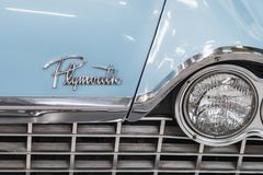 Plymouth raseri MP2 1959 arkivfoto