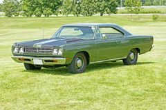 Plymouth road runner. Picture of the green plymouth road runner royalty free stock image