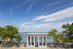 Plymouth Rock Stockbild