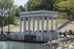 Plymouth Rock MOR, USA royaltyfri foto