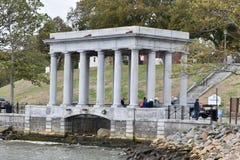 Plymouth Rock portik Arkivfoton