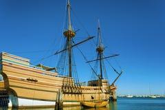 Plymouth-` s Mayflower II auf Cape Cod stockbilder