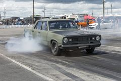 Plymouth scamp burnout Royalty Free Stock Image