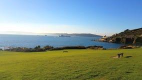 Bovisands on the southwest coast path , Devon, Uk royalty free stock photography