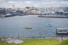 Plymouth-Stadtbild Lizenzfreie Stockbilder