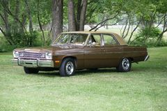 Plymouth Valiant. Picture of the 1974 Plymouth Valiant Custom stock photo