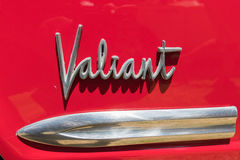 Plymouth Valiant emblem on display Royalty Free Stock Image