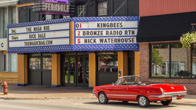 1964 Plymouth Valiant Signet 200, Woodward Dream Cruise, MI. FERNDALE, MI/USA - AUGUST 18, 2016: A 1964 Plymouth Valiant Signet 200 car at The Magic Bag, on the Royalty Free Stock Photo