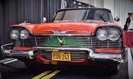 1956 1958 Plymouth-Wut Christine Lizenzfreies Stockbild