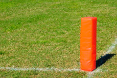 Pilone arancio di calcio Fotografia Stock