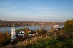 Plyos är en stad i det Privolzhsky området av Ivanovo Oblast, Russi Royaltyfri Foto