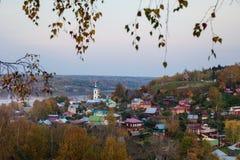 Plyos är en stad i det Privolzhsky området av Ivanovo Oblast, Russi Arkivbilder