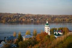 Plyos городок в районе Privolzhsky области Иванова, Russi Стоковые Фотографии RF