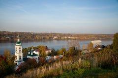 Plyos jest miasteczkiem w Privolzhsky okręgu Ivanovo Oblast, Russi Zdjęcia Royalty Free