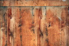 Plywood. Old red plywood wall. Background Royalty Free Stock Image