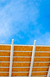 Plywood awning with blue sky Stock Photography