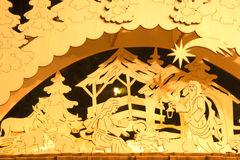 Plywood bethlehem. From vienna christmas-market Royalty Free Stock Images
