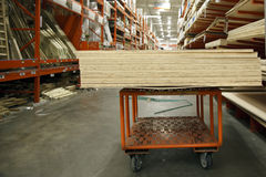 Plywood on a cart Royalty Free Stock Photo