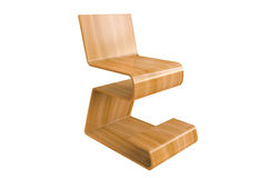 Plywood chair isolated on white background. Plywood chair on white background concept design Royalty Free Stock Photos