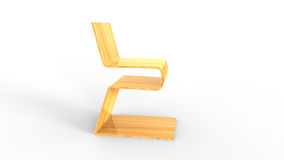 Plywood chair on white background. Concept design Stock Photography