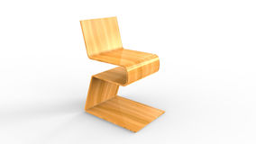 Plywood chair on white background. Concept design Stock Photo