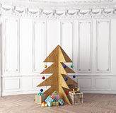 Plywood Christmas tree Royalty Free Stock Photography