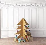 Plywood Christmas tree Royalty Free Stock Photography