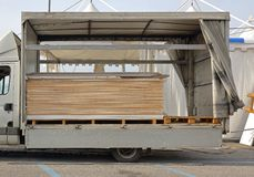 Plywood delivery Stock Photography