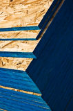 Plywood for home contruction. Stack of plywood chip board building material for construction and remodeling of a new house Royalty Free Stock Photography